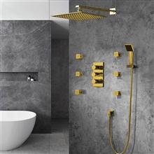Trialo Color Changing LED Shower with Adjustable Body Jets and Mixer