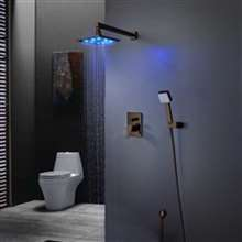 Dark Oil Rubbed Bronze Shower System With Shower Head and Hand Shower