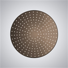 "20"" Oil Rubbed Bronze Round LED Rain Shower Head"