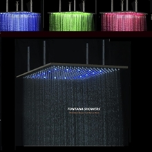 "40"" Oil Rubbed Bronze Square LED Rain Shower Head"