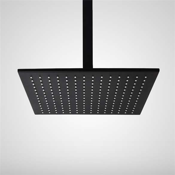 "Fontana 16"" Oil Rubbed Bronze Square LED Rain Shower Head"