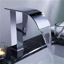 Nora Cascading Chrome Deck Mount Sink Faucet