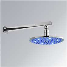 "FontanaShowers 16"" Round LED Rainfall Showerhead"