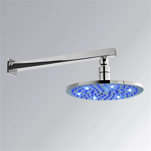 "16"" Multi Color LED Rain Shower Head"