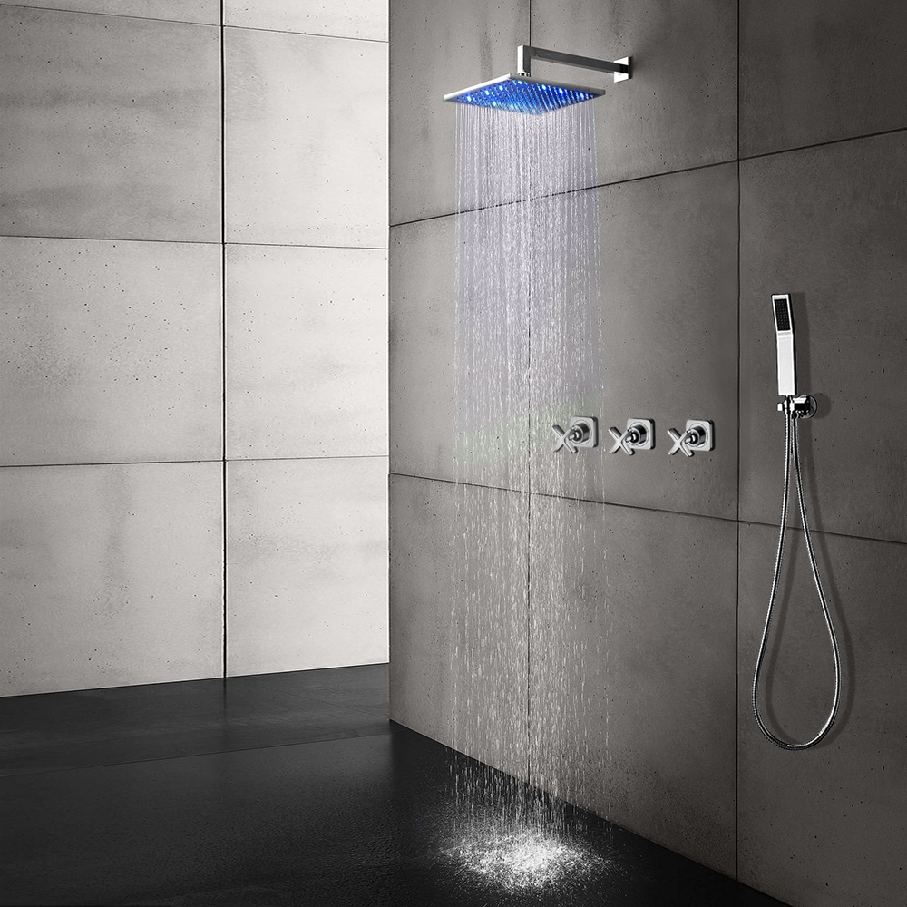 LED Color Changing Shower Head - Shower Head Sizes 8\