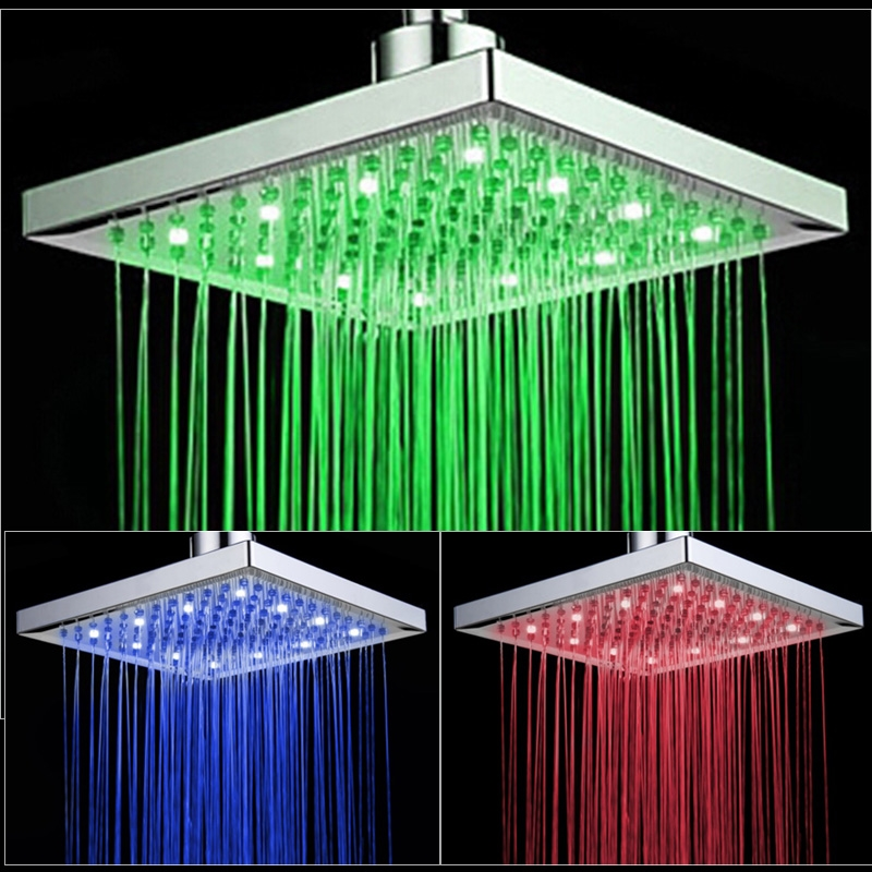 LED Shower Head with Handheld Shower and Shower Faucet
