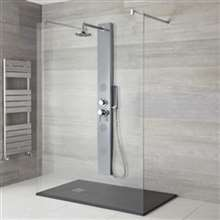 "Renata 57"" Stainless Steel Shower Panel System"