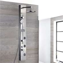 Ermanno Rainfall Massage Shower Panel Systemead