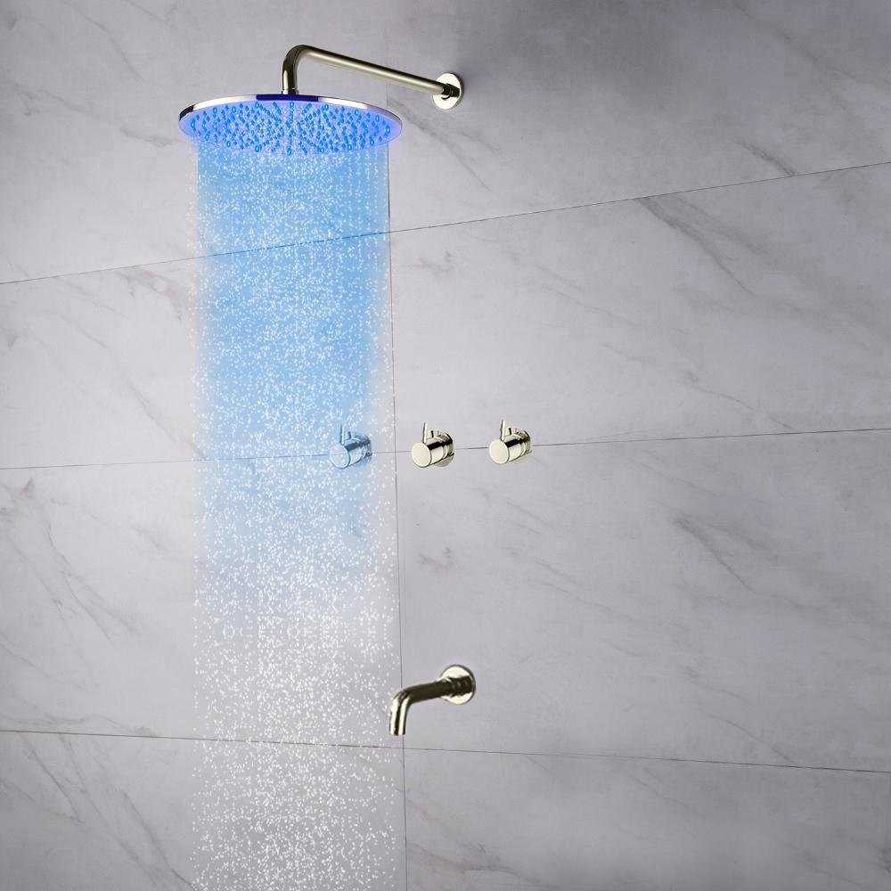 Shower Head And Faucet Shop Fontana Oceana Shower Set With Rainfall Shower Head Faucet Set At Fontanashowers Com