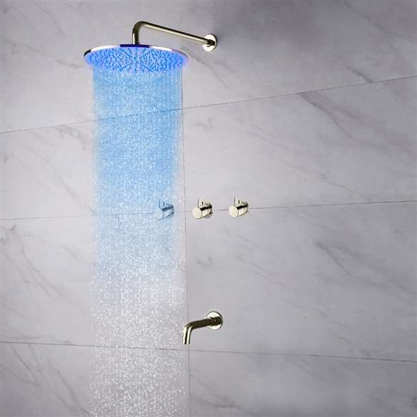 Fontana Oceana Shower Set with Rainfall Shower Head Faucet Set