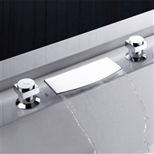 two handle waterfall sink bathtub faucet