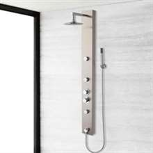 "57"" Stainless Steel Thermostatic Shower Panel"