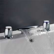 Chrome European waterfall Bathtub and Shower Faucet