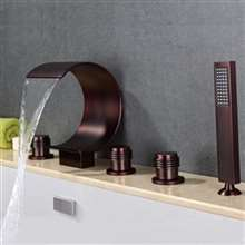Uglo Oil Rubbed Bronze Waterfall Faucet System