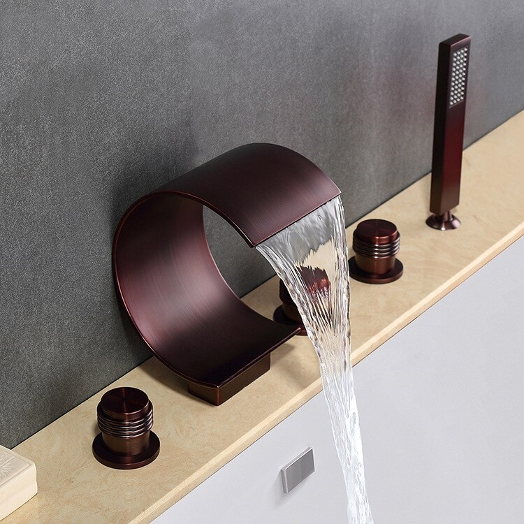 Fontana Solid Brass Bathtub Faucet Oil Rubbed Bronze Finish