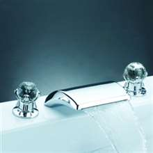 Widespread Waterfall Bathroom Faucet