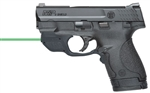 "Smith & Wesson M&P9 Shield w/ Crimson Trace Green Laser Pistol 10141 9mm 3.1"" Polymer Grip Black Finish 8 Rd"