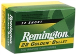 Remington Rimfire Ammunition 1022 22 Short Plated Lead Round Nose RN 29 GR 1095 fps 50 Rd/bx