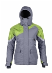 Striker Ice Womens Prism Floating Ice Fishing Jacket - Gray / Green - Size 16