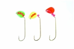 EAGLE CLAW 2 WAY SPINNER RIG ASSORT BLADES, 4 PIECE GOLD 128-4