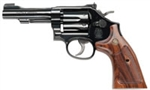 "S&W 48 Classic Revolver 150717 22 Magnum 4"" Barrel Wooden Target Grip Bright Blue Finish 6 Rd"