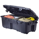 PLANO SPORTS LOCKER STORAGE TRUNK BLACK WHEELED 181900