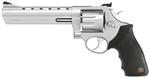 "Taurus 608 Large Frame Revolver 2-60806 357 Mag 6 1/2"" Soft Rubber Grip Matte Stainless Finish 8 Rd"