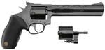 "Taurus M992 Tracker DA/SA Revolver 2992061 22 Long Rifle/22 Magnum 6.5"" Black Grip Blue Finish 9 Rd"