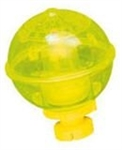"RIEDCO NIGHT LIGHTED ROUND BOBBER 2-1/4"" YELLOW W/RATTLE ACTION 214Y"