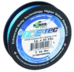 POWER PRO ICE-TEC COATED ICE FISHING LINE 5# 50YD ICE BLUE 23300050050A