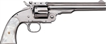 "Uberti 1875 No. 3 2nd Model Top Break Revolver U348571 45 Colt 5"" Pearl-style Stock Nickel Finish"