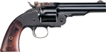 "Uberti 1875 No. 3 2nd Model Top Break Revolver U348577 38 Special 5"" Two Piece Walnut Stock Blued Finish"