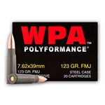 7.62x39 - 123 gr FMJ - WOLF WPA Polyformance - 20 Rounds
