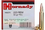 Hornady 80275 .223REM 55GR Full Metal Jacket Bullets 50 Per Box