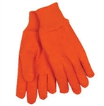 KINCO ORANGE JERSEY GLOVES LG