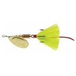 MEPPS AGLIA DRESSED SPINNER BAIT 1/6 OZ GOLD BLADE YELLOW TAIL B2ST G-Y