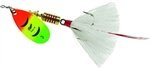 MEPPS AGLIA DRESSED SPINNER 1/6 OZ HOT FIRETIGER WHITE B2STHFT-W