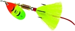 MEPPS AGLIA DRESSED SPINNER 1/6 OZ HOT FIRETIGER YELLOW B2STHFT-Y