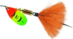 MEPPS AGLIA DRESSED SPINNER 1/4 OZ HOT FIRETIGER ORANGE B3STHFT-O