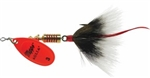 MEPPS AGLIA DRESSED SPINNER 1/4 OZ HOT ORANGE GRAY B3STHO-G
