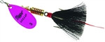 MEPPS AGLIA DRESSED SPINNER 1/4 OZ HOT PINK BLADE BLACK TAIL B3STHP-BK