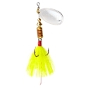 MEPPS AGLIA DRESSED SPINNER BAIT 1/4 OZ SILVER BLADE YELLOW TAIL B3ST S-Y