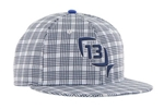 13 Fishing Blue Steel Flat Brim Hat S/M