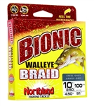 NORTHLAND BIONIC WALLEYE BRAID 10LB/2.5LB DIA 100YDS IND CAMO BWB100-10-IC