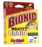NORTHLAND BIONIC WALLEYE BRAID 15# 100YD IND.CAMO BWB100-15-IC