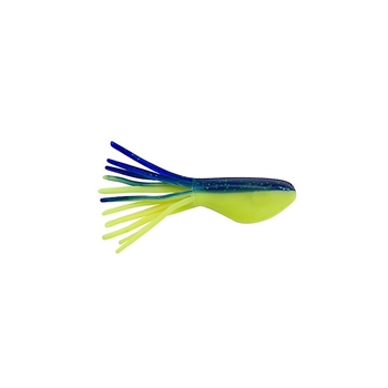 """Johnson CBSTB2-PBSC Crappie Buster 2/"""" Shad Tubes Pearl Blue Sparkle Chartreuse 8"""