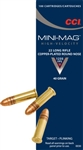CCI Mini-Mag HV Target/Plinking Rimfire Ammunition 0030 22 Long Rifle Round Nose RN 40 GR 1235 fps 100 Rd/bx