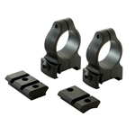 CVA DURASIGHT Z-2 ALLOY SCOPE MOUNT SYSTEMS A-BOLT RINGS  & BASES BLACK DS706B
