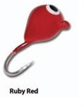 Eco Pro TUNGSTEN TEAR DROP ICE JIG Ruby Red 1.6 Grams #14 Hook