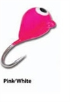 Eco Pro TUNGSTEN TEAR DROP ICE JIG Pink White .8 grams #16 hook